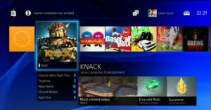 The PS4 Home Screen
