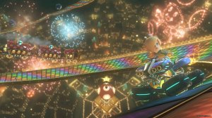 Oddly enough, Rosalina feels at home on Rainbow Road....